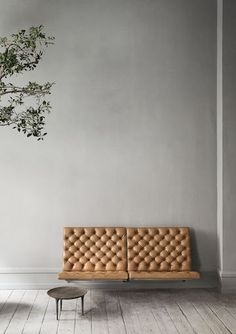 a wall fixed bench -