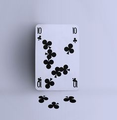 Funny Falling Clubs Playing Card