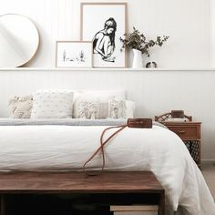 my scandinavian home: White and wood bedroom in Caitlin's bright, family bea. - Today Pin - Home Accessories - White Bedroom, Modern Bedroom, White And Brown Bedroom, Dark Wood Bedroom, Minimalist Bedroom, Bedroom Ideas For Teen Girls, Teenage Bedrooms, Scandinavian Bedroom, Scandinavian Design