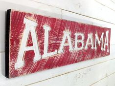 ALABAMA Sign 40 x 10  Old School Distressed by AmericanaSigns