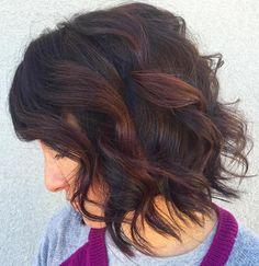 black+wavy+bob+with+reddish+brown+highlights