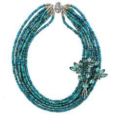Chasing the Blues necklace by Elva Fields #elvafields