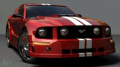 Muscle Car | Mustang-car-red-mustang-ford-muscle-car-2010-1920x1080 HD Wallpaper ...