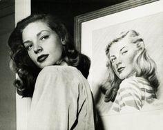 Portrait of Lauren Bacall by Nina Leen, 1945