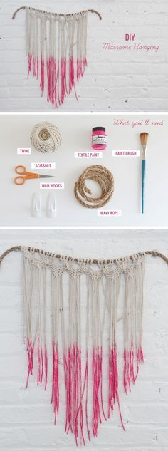 DIY macrame wall hanging ~ step-by-step instructions with plenty of photos   . . . .   ღTrish W ~ http://www.pinterest.com/trishw/  . . . .  #bohemian #interior