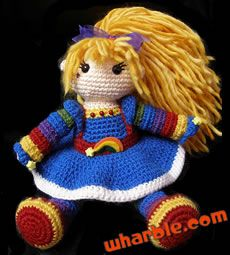 Rainbow Brite Crochet Doll by Nymphlings
