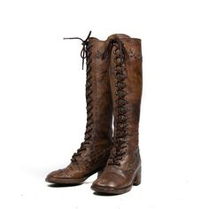 1970's Boho Tall Lace Up Boots Dark Brown by RabbitHouseVintage: Cute!!!!