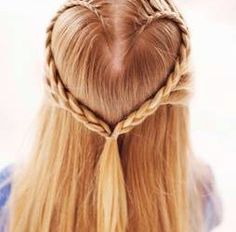 Valentine Hairstyle I want to try on my daughter's hair with these How to Make a Heart Braid instructions.