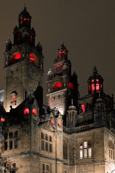 Glasgow, Scotland. It looks super haunted and creepy. LET'S GO!