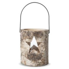 Smith & Hawken™ Birch Trunk Star Lantern Candle Holder - 6.25""