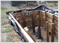 How to build an Underground Shelter Earthbag Silo w Wall Aquarium higher than Grow Beds, Collection Tank, Auxiliary Tank to Fish Tank Homestead Survival, Camping Survival, Outdoor Survival, Survival Prepping, Emergency Preparedness, Survival Gear, Survival Skills, Underground Shelter, Underground Homes