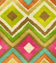 Add a pop of color to your home decor with this fun print! @HGTV HOME #fabric