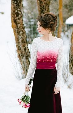 Lace Inspiration: Magical Winter Wedding Shoot: Roses Snow & Red Velvet | Photography by Ciara Richardson on Bridal Musings via Lover.ly