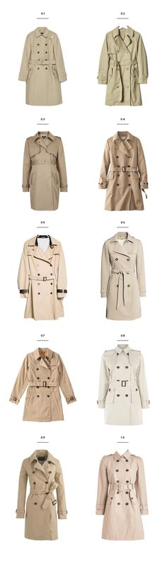 Chic trench coats for rainy spring days