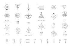 Alchemy symbols collection. Religion, philosophy, spirituality, occultism.