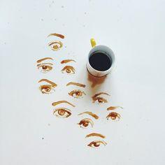 Les dessins au café et autres aliments de Giulia Bernardelli foodart  2Tout2Rien