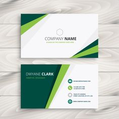 Clean green visit card vector image on VectorStock Free Printable Business Cards, Free Business Cards, Prospectus, Beauty Business Cards, Visiting Card Design, Name Card Design, Bussiness Card, Grafik Design, Name Cards