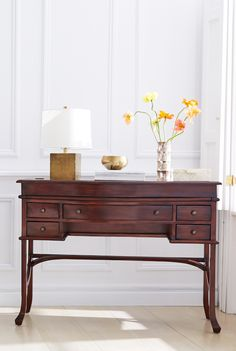 This mahogany desk is totally timeless!