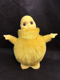 SQUEEZE HUMBAH'S TUMMY TO HEAR REAL BOOHBAH SOUNDS! 2004 Hasbro Boohbah, Yellow, Dance Along Humbah, Singing, Dancing Toy. Humbah is in good preowned condition.   eBay!