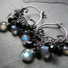 Eclipse Earrings by Blue Scarab - I love these!!!