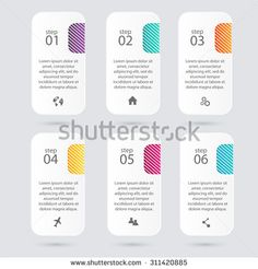 Color Step Design Clean Number Timeline TemplateGraphic Or