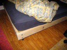 Wood Pallet Bed Frame, Making A Wood Bed Frame Homemade Bed Frame Diy Wood Platform Bed Frame Diy Platform Bed Plans, Wood Platform Bed, Bed Frame Plans, Diy Bed Frame, Bench Plans, Homemade Beds, Pallet Bed Frames, Pallet Beds, Pallet Shelves