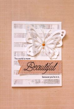 By Stephanie Gold - life is beautiful card made with @papertreyink stamp and die set >> goldensimplicity.com