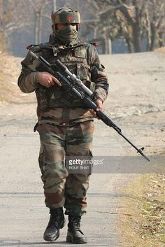 Sniper of Indian army with Dragunov sniper rifle