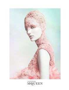Yes it's OUT THERE but its Alexander McQueen! Its a cross between art and fashion! Zuzanna Bijoch for Alexander McQueen Spring 2012