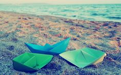Paper Boats Origami Surface Retina MacBook Pro Wallpaper