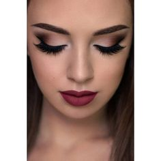30 Prom Makeup Ideas to Have All Eyes on You ❤ liked on Polyvore featuring beauty products, makeup, eye makeup and beauty