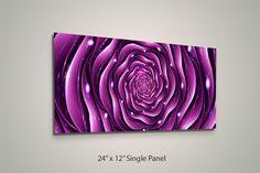 Modern Art Print on Aluminum Panels Flower Ripple by LuxWallArt