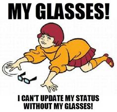 """""""I can't see without my glasses!"""" Pin the glasses on Velma! For Scooby Doo party! Intp, April Fools Day Jokes, Velma Scooby Doo, Velma Dinkley, Live Picture, Tv Tropes, Lol, Losing Her, Girl Cartoon"""