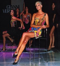 Versace 1980's--- the baddest supermodels ever!