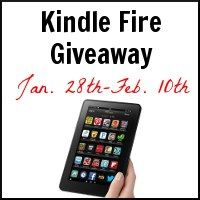 The Kindle Fire Giveaway is live! A fantastic group of bloggers have teamed up to offer the prize to YOU. Best of luck!