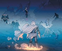 """Epic Secret Wars Art: """"Esad Ribic is a master of grandeur & gravity, able to convey weight and importance in a manner that feels airy & effortless. His work feels epic, like what you're witnessing is a rare event that will never happen again""""! (Marvel comics)"""