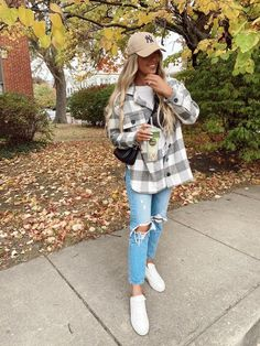 Cute Comfy Outfits, Casual Fall Outfits, Fall Winter Outfits, Simple Outfits, Autumn Winter Fashion, Trendy Outfits, Autumn Fashion, Fashion Outfits, Flannel Style