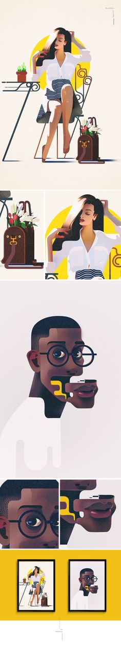 Illustrations | march07 on Behance  lolol the black man used to be my spotify cover- kristelle