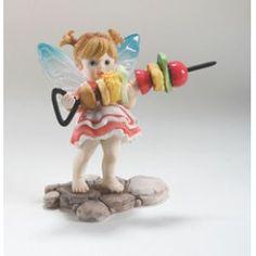 "Kitchen Fairies | ... Living Enesco My Little Kitchen Fairies ""Shishkabob Fairie"" Figure"