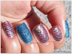 Incoco Nail Polish Appliqués Review - Zig with Zoya PixieDust Liberty on accent nails
