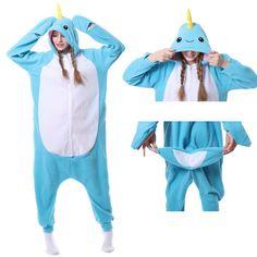 37990d926b9a Narwhal Onesie Animal Kigurumi Pajama Women   Men Halloween Carnival  Costumes