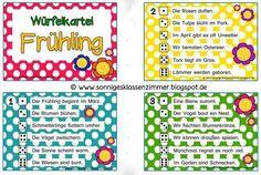 Abschreibkartei Frühling Klasse 1 und 2 Grundschule