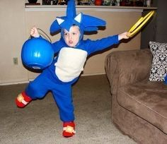 Sonic The Hedgehog An Knucles Kids Halloween Costume  •  Free tutorial with pictures on how to make a full costume in under 180 minutes