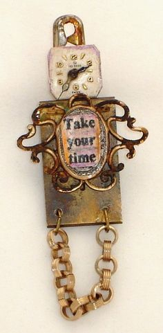 Jeanette Janson assemblage - made from a watch