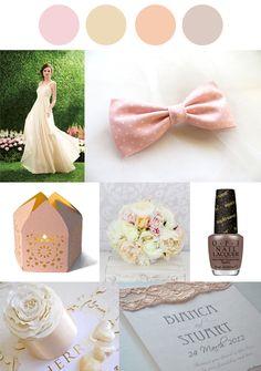 Neutral Nudes Wedding Colour Palette #weddingplanning #engaged