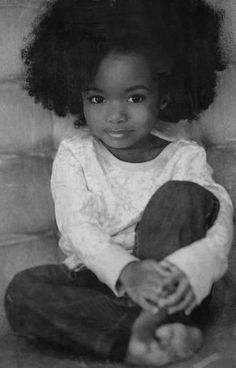 too cute - gotta teach our babies to love their natural hair too