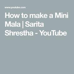 How to make a Mini Mala Mini, Youtube, How To Make, Indian Jewelry