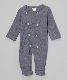 Loving this Plum Bunny Dark Blue Heather Double-Breasted Organic Footie - Infant on Hipster Baby Clothes, Unisex Baby Clothes, My Bebe, Baby Mine, Cool Kids, Kids Fun, Baby Fever, Beautiful Babies, Kids Boys