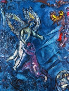 brolf:      Jacob Wrestling with the Angel, Marc Chagall     (Source: brolf-blog)