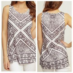 Printed Tank Top Size Small Fits true to sizePrice is Firm Tops Tank Tops